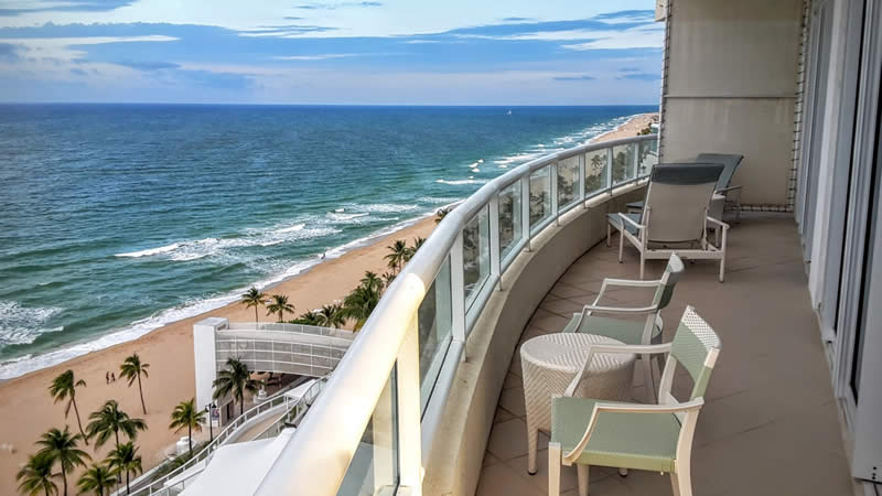 Ritz-Carlton, Oceanfront balcony, Fort Lauderdale