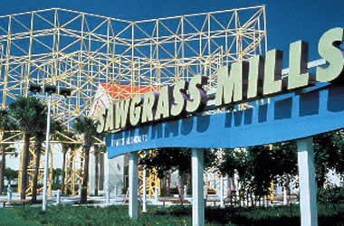 Sunrise Florida is home to Sawgrass Mills Mall