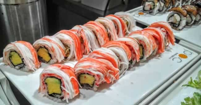 Nabu all you can eat sushi rolls in Fort Lauderdale